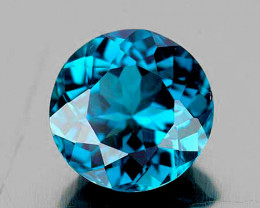 9.00 mm Round 3.34cts London Blue Topaz [VVS]