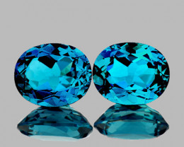 10x8 mm Oval 2 pcs 8.25cts London Blue Topaz [VVS]