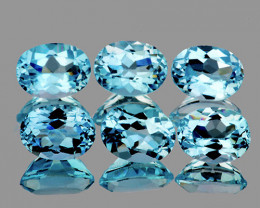 8x6 mm Oval 6 pcs 9.17tcs Sky Blue Topaz [VVS]