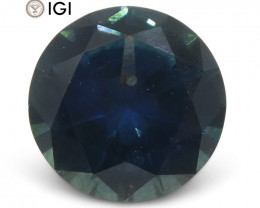 1.33 ct Round Blue Sapphire IGI Certified