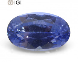 1.58 ct Oval Blue Sapphire IGI Certified Unheated