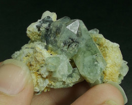 Rare Natural ChlorineQuartz Combine with Brokite inside And out side of qu