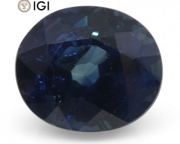 2.02 ct Oval Blue Sapphire IGI Certified