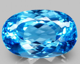 37.92 ct. Natural Swiss Blue Topaz Top Quality Gemstone Brazil - IGE Сerti