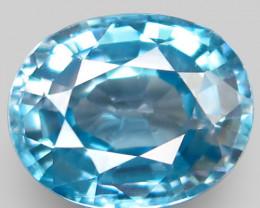 4.12 Ct. Natural Rich Seafoam Blue Zircon Cambodia