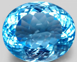 34.22 ct. 100% Natural Earth Mined Top Quality Blue Topaz Brazil