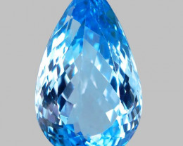 32.50 ct. Natural Top Quality Swiss Blue Topaz Brazil
