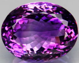 33.06 Ct. Natural Rich Purple Amethyst Uruguay Attractive Unheated