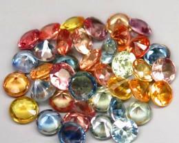 5.15 Ct. 3.0 mm Natural Fancy Color Sapphire Africa Diamond Cut - 40 pcs