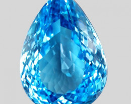 31.10 ct. Natural Swiss Blue Topaz Top Quality Gemstone Brazil