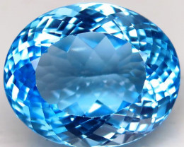 30.24 ct. Natural Swiss Blue Topaz Top Quality Gemstone Brazil