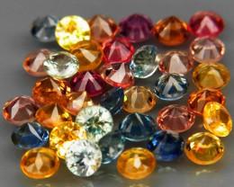 5.91 Ct. 3.2 mm Natural Fancy Color Sapphire Africa  Diamond Cut - 36 pcs