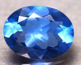 Fluorite 9.32Ct Natural IF Vivid Bule Color Change Fluorite ER12/A49