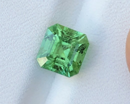 3.25 Ct Natural Green Transparent Tourmaline Gemstone