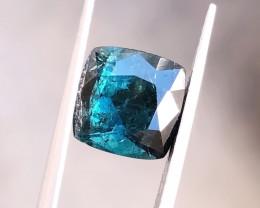 3.70 Ct Natural Dark  Blue Transparent Tourmaline Gemstone