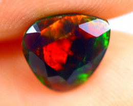 0.75cts Natural Ethiopian Smoked Faceted Black Opal / RD720