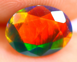 1.29cts Natural Ethiopian Smoked Faceted Black Opal / RD739