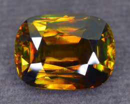 Imperial Sphene 5.48 ct AAA Fire on Contrast BG Untreated Tanzanian Mined S