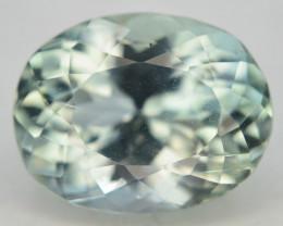 6.80 Ct Green Spodumene Gemstone From Afghanistan~ G AQ