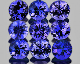 2.70 mm Round 9 pcs Unheated Purple Blue Sapphire [VVS]