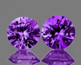 3.20 mm Round 2 pcs 0.30ct Unheated Purple Sapphire [VVS]