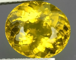 5.10 CTS GENUINE TOP YELLOW COLOR APATITE OVAL GEM BRAZIL