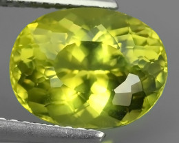 4.35 CTS GENUINE TOP GREEN COLOR APATITE OVAL GEM BRAZIL!!