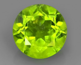 4.30CTS NATURAL PERIDOT ROUND NICE 9.93 MM EXCELLENT~