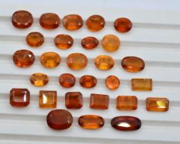 Top Color54.25 ct Natural Hessonite Garnet Lot ~ T