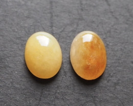 7.96ct natural yellow jade cabochon