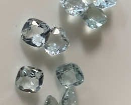 ⭐A premium parcel of 9 Aquamarine gems 4mm VVS C24P