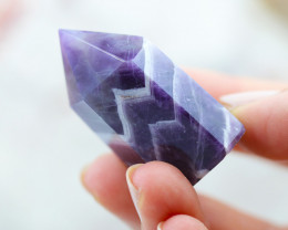 160 Cts Terminated Point Amethyst crocidile    Generator CF 440