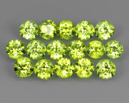 4.40 CTS NATURAL PERIDOT ROUND PARCEL 16 PCS~EXCELLENT!!