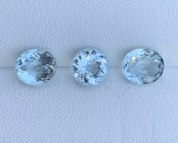 4.80 Carats Aquamarine Gemstones 3 pc