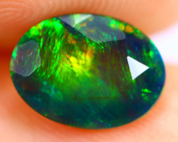 1.08cts Natural Ethiopian Smoked Faceted Black Opal / RD779