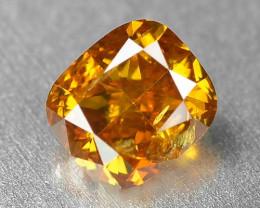 0.52 Cts Untreated Fancy Natural Vivid OrangeColor Loose Diamond