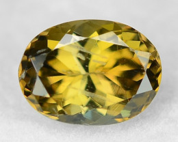 1.36  Cts Unheated Yellow Color Natural Tanzanite Gemstone