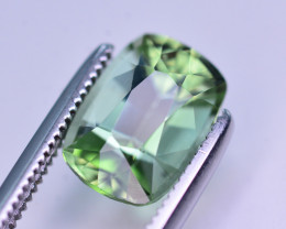 Mint Green Color  2.05 Ct Tourmaline From Afghanistan. ARA