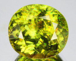 ~GLITTERING~ 4.40 Cts Natural Beautiful Green Sphene Oval Cut Russia