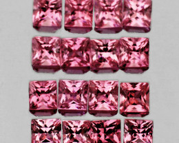 2.00 mm Square 16 pcs 1.18cts Pink Sapphire [VVS}