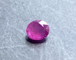 0.57ct natural pinkish red ruby