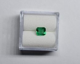 0.78 Carat Vivid Green Panjshir Emerald