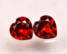 Rhodolite 1.77Ct 2Pcs Natural Cherry Red Rhodolite Garnet E1713