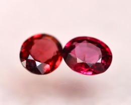 Rhodolite 1.47Ct 2Pcs Natural Cherry Red Rhodolite Garnet E1716