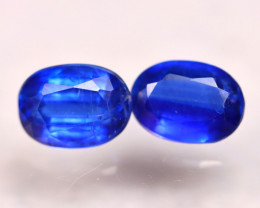 Kyanite 2.23Ct 2Pcs Natural Himalayan Royal Blue Color Kyanite E1718