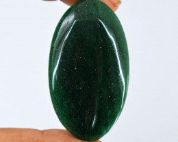 Genuine  84.00 cts  Green Jade Oval Shape Cabochon