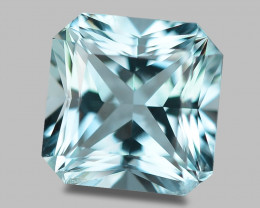 Flawless natural sea blue Brazilian aquamarine.
