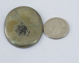 Genuine  144.00 cts  Pyrite Oval Shape Cabochon V100
