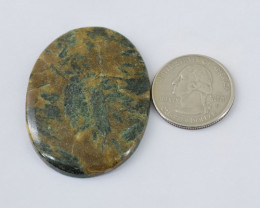 Genuine  84.00 cts Forest Agate Oval Shape Cabochon V100