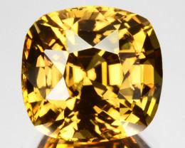 ~Sparkling~ 6.95 Cts Natural Golden Yellow Zircon Cushion Cut Tanzania